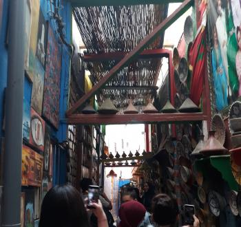 Walking through the shops and markets in Fes; photo by Loki Chairez